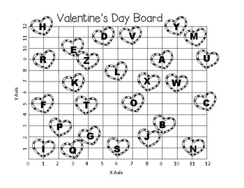Valentine's Day Coordinate Grid Decode the Message TEKS 5.8A 5.8B 5.8C