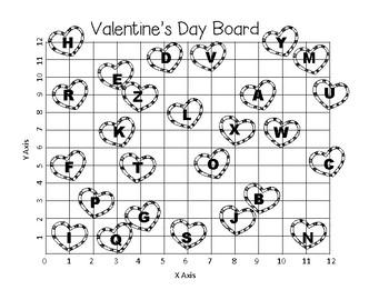 valentine 39 s day coordinate grid decode the message teks 5 8a 5 8b 5 8c. Black Bedroom Furniture Sets. Home Design Ideas