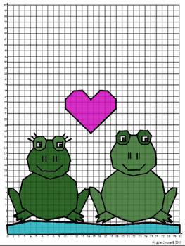 "Valentine's Day Coordinate Mystery Grid ""Toad-ally Awesome"""