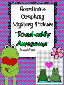 """Valentine's Day Coordinate Mystery Grid """"Toad-ally Awesome"""""""