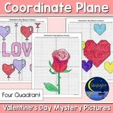 Valentine's Day Coordinate Plane Graphing Picture - Four Quadrant