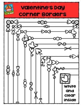 Valentine's Day Corner Borders {P4 Clips Trioriginals Digi