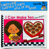 Valentine's Day Count And Draw Adapted Book:  I Can Make T