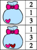 Valentine's Day Count & Clip Cards (Numbers 1-10)