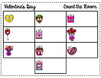 Valentine's Day Count the Room 1-10