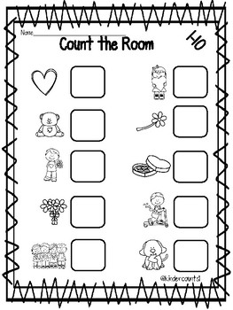 Valentine's Day Count the Room 1-10 and 11-20