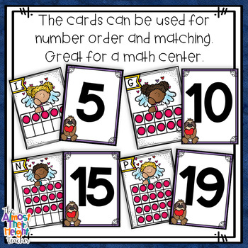 Valentine's Day Count the Room - 10s Frame Number Sense Activity - numbers 1-20