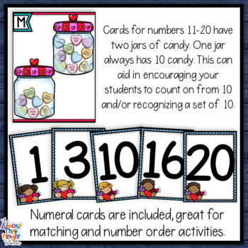 Valentine's Day - Count the Room - Number Sense Activity for numbers 1-20