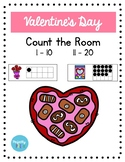 Valentine's Day Count the Room (Ten & 20s Frames)