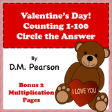 Valentine's Day! Counting 1-100, Circle the Answer