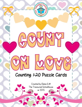 Valentine's Day Counting 1-20 Puzzle Cards