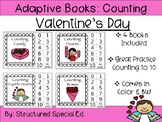 Valentine's Day Counting Adapted Books