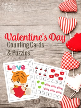 Valentine's Day Counting Cards