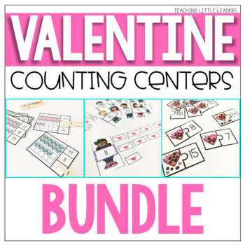 Valentine's Day Counting Centers Bundle