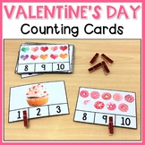 Valentine's Day Counting  Clip Cards | 1-10