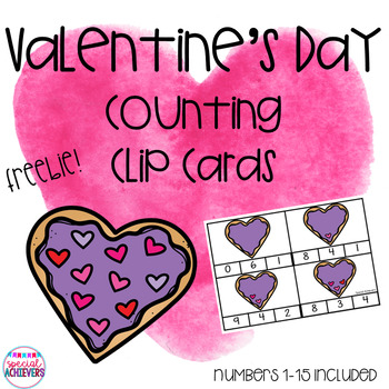 Valentine's Day Counting Clip Cards
