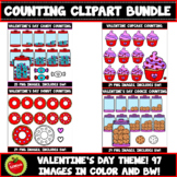 Valentine's Day Counting Clipart Bundle