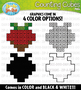 Valentine's Day Counting Cubes Clipart {Zip-A-Dee-Doo-Dah Designs}