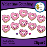 Valentine's Day Counting Donut Sprinkles Clipart
