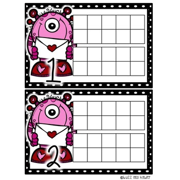 Valentine's Day Counting Freebie 0-20
