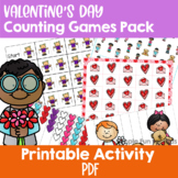 Valentine's Day Counting Games Pack