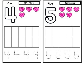 Valentine's Day Counting Numbers 0-10