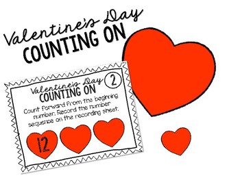 Valentine's Day Counting On Task Cards 1-20