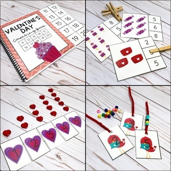 Valentine's Day Counting Pack - Hands on Activities for Numbers 1-20