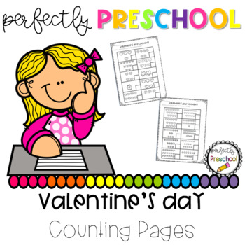 Valentine's Day Counting Pages
