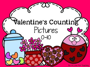 Valentine's Day Counting Pictures 0-10