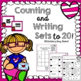 Valentine's Day Counting Sets and Writing Numbers to 20 (Differentiated*)