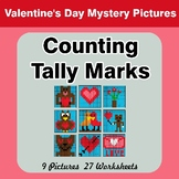 Valentine's Day: Counting Tally Marks - Math Mystery Pictu