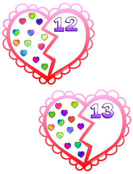 Valentine's Day Centers Activities Valentine Centers Counting Math Numbers