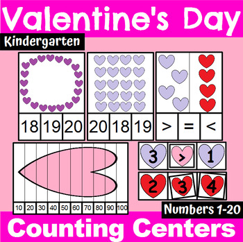 Valentine's Day Counting and Cardinality Centers for Kindergarten