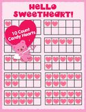 Valentine's Day Counting and Ten Frames Clip Art Set - Candy Hearts HUG