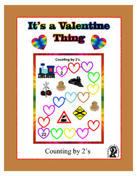 Valentine's Day Counting by 2's Fill in the Blank Sheet wi