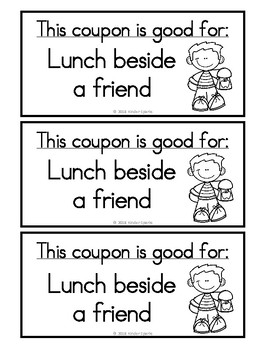 Valentine's Day Coupon Book (Student Gift)