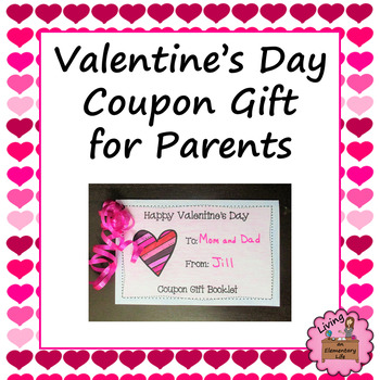 valentine's day coupon gift for parentsliving an elementary life, Ideas