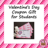 Valentine's Day Coupon Gift for Students -with Editable Template