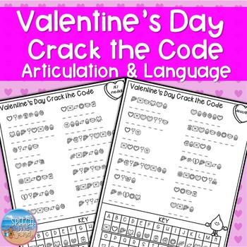 Valentine's Day Crack the Code: Articulation & Language