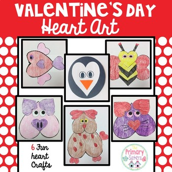 Valentine's Day Animal Crafts/activites with hearts
