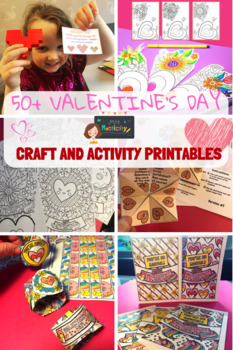 Valentine's Day Craft And Activity Printables Bundle Pack