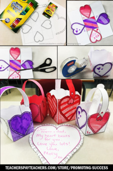 Valentine's Day Craft for Parents BASKET, Valentines Day Writing Activity SPS