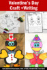Valentine's Day Craft and Writing Prompts & Paper CUTE BIRDS  Bulletin Board SPS