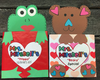 Valentine's Day Craft Cereal Box: Bear & Frog FREEBIE