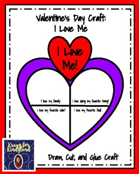 Valentine's Day Craft and Writing: I Love Me