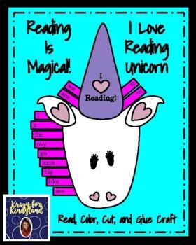 Valentine's Day Craft: I Love Reading Unicorn