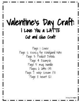 Valentine's Day Craft: I Love You a LATTE