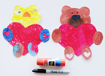 Valentine's Day Craft: Love Bear Printable Template