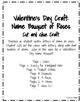 Valentine's Day Craft: Name Bouquet of Roses